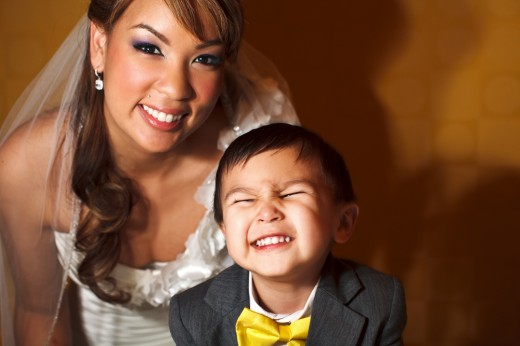 Bride with her ring bearer