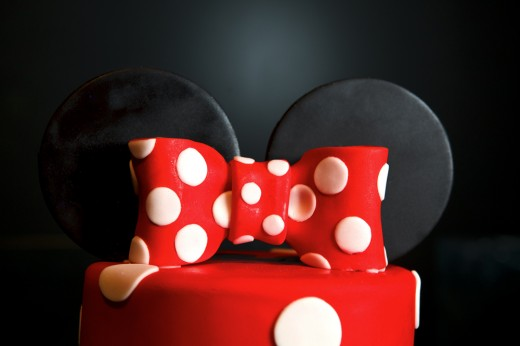 Minnie Mouse inspired wedding cake topper