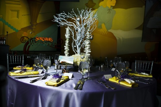 Table setting at Disney's Art of Animation building